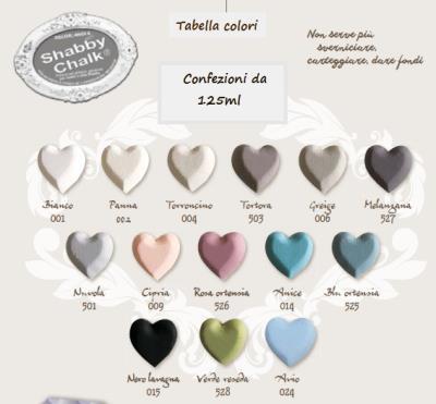 Special creativity prodotti tabella colori conf 125ml for Tessuti arredamento outlet torino
